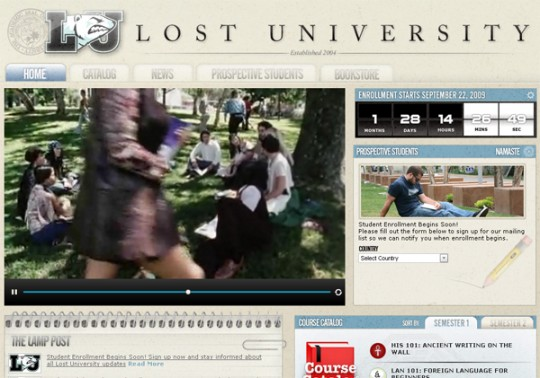 LostUniversity.org, this summer's LOST viral promo.